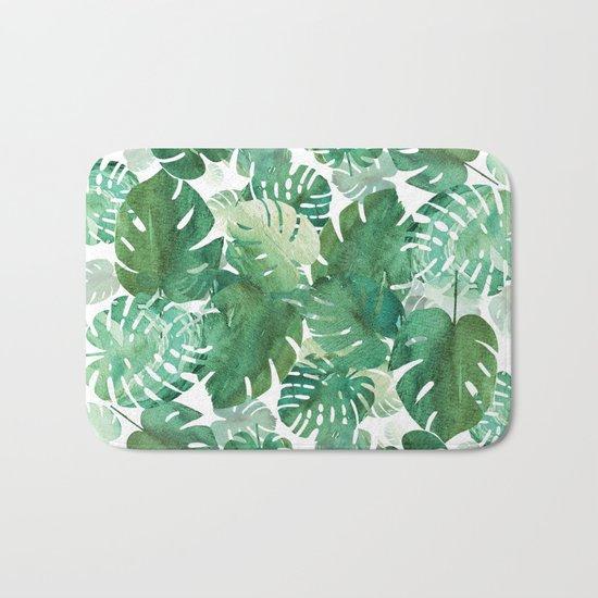 Palm Leaves Boom! Bath Mat