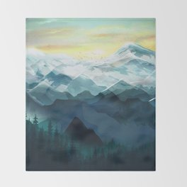 Mountain Range Throw Blanket