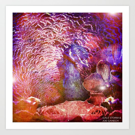 :: Peacock Party ::  by Gale Storm and Ganech Joe Art Print