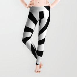 Spiral (Black & White Pattern) Leggings
