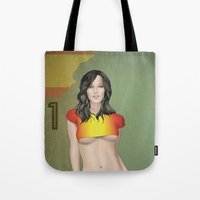 spain Tote Bags featuring Spain by Kingdom Of Calm - Print On Demand