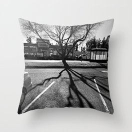 Shadow Tree - Pacific Northwest Throw Pillow