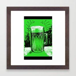 Beer_Green Framed Art Print