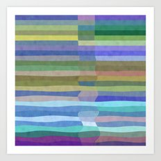 Fab Arty Stripes Three Art Print