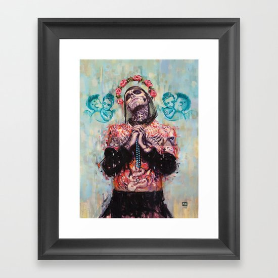 Portrait of Rick Genest aka Zombie Boy Framed Art Print