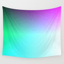 Rainbow ombre flames Wall Tapestry