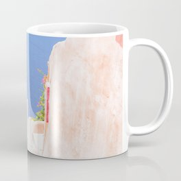 Santorini Greece Mamma Mia pink street travel photography Coffee Mug