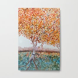 Standing Alone Tree Metal Print
