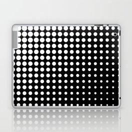 Modern techno shrinking polka dots black and white Laptop & iPad Skin