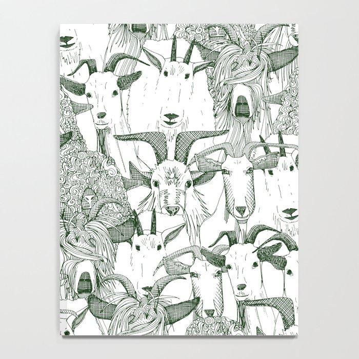 just goats dark green Notebook