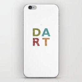 Distressed Dart Typography Bar Pub Tournament iPhone Skin