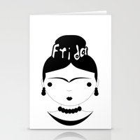 frida Stationery Cards featuring Frida by stavrina inno