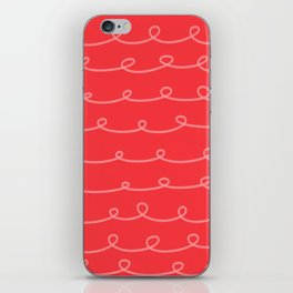 Tomato Red Curlicues iPhone Skin