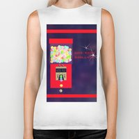 gumball Biker Tanks featuring Super Moon Gumball Machine by Mel Moongazer