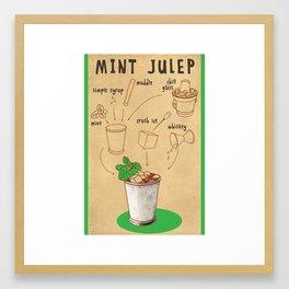 HOW TO: MINT JULEP Framed Art Print