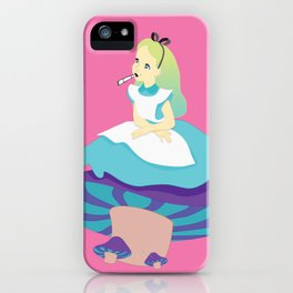 Alice And Mushrooms Man iPhone Case