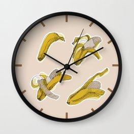 Eating process (Banana) // watercolor banana consumption Wall Clock