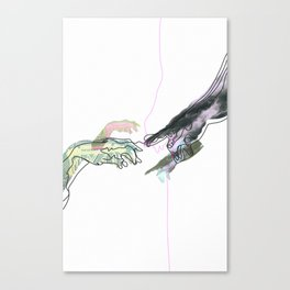 The Creation of Man Canvas Print