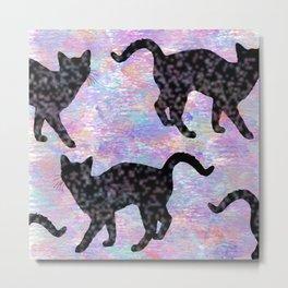 Pastel Cat Pillow  Metal Print