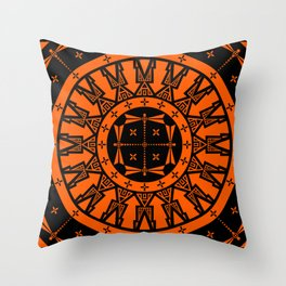 Ancestors (Orange) Throw Pillow