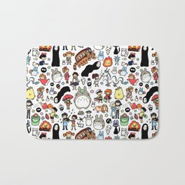 Kawaii Ghibli Doodle Bath Mat