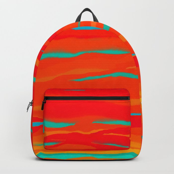 Ripped Turquoise Sunset Sky Backpack