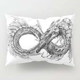 Ouroboros mythical snake on transparent background | Pencil Art, Black and White Pillow Sham