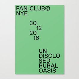 Fan Club© NYE16 Canvas Print