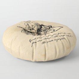 Lousia May Alcott - Good Books Floor Pillow