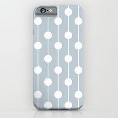 BlueGray Lined Polka Dot Slim Case iPhone 6s