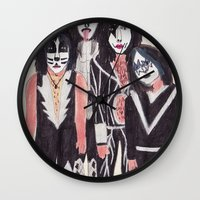 kiss Wall Clocks featuring KISS by Angela Dalinger