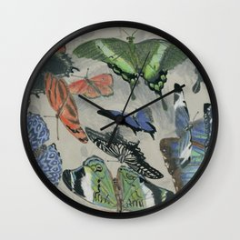 The Butterfly Song Wall Clock