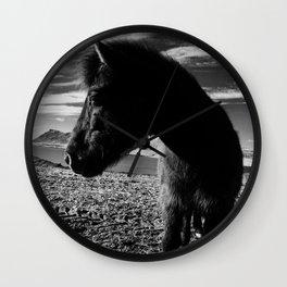 Icelandic Horse Wall Clock