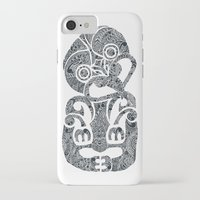 tiki iPhone & iPod Cases featuring Tiki  by AndreaGeddes