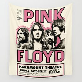 PinkFloyd Meddle Concert Tour 1971 (digitalized) Wall Tapestry
