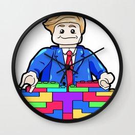 Donald Trump Building A Wall Present US Boarder Wall Clock