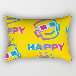 3D HAPPY Rectangular Pillow