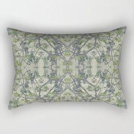 Modern Noveau Floral Pattern Rectangular Pillow
