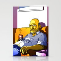 homer Stationery Cards featuring Depressed Homer by Adrien ADN Noterdaem