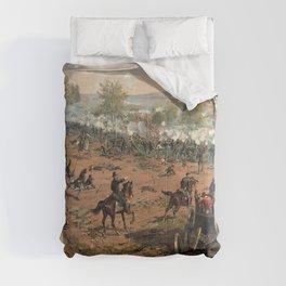 Civil War Battle of Gettysburg by Thure de Thulstrup (1887) Comforters