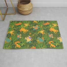 Froggy forest Rug