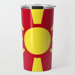 Macedonia flag emblem Travel Mug