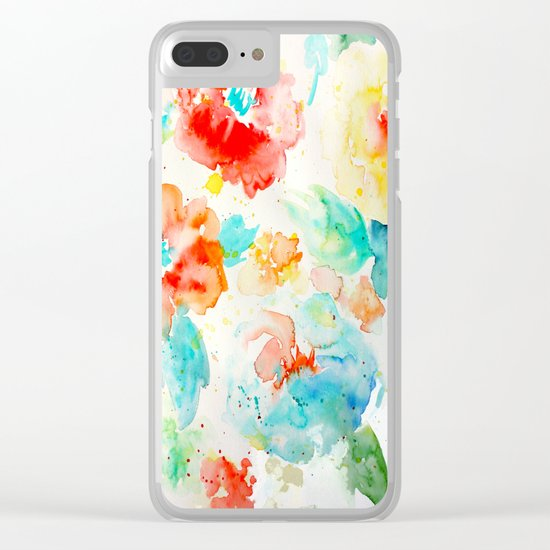 Abstract Flowers 02 Clear iPhone Case