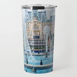 blue palace fountain Travel Mug