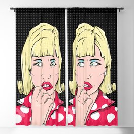 Anxiety Woman Blackout Curtain