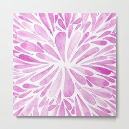 Symmetric drops - pink Metal Print