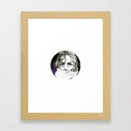 Hiding in space Framed Art Print