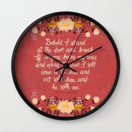 Revelation 3:20 Wall Clock