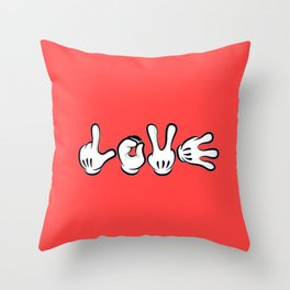 Micky Love Throw Pillow