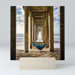 Scripps Pier Date  Mini Art Print